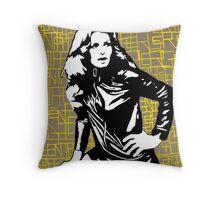 Sixties vamp Throw Pillow
