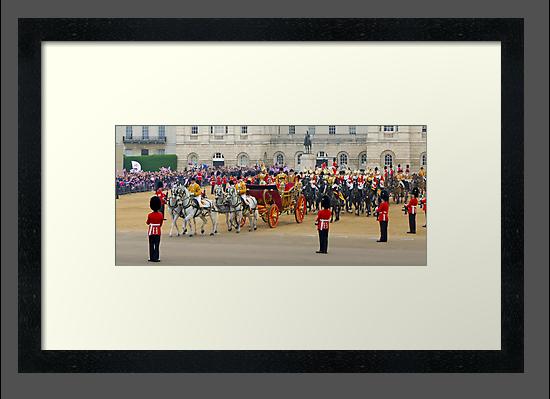 UK, England, London, Horse Guards Parade, Royal Wedding by Alan Copson