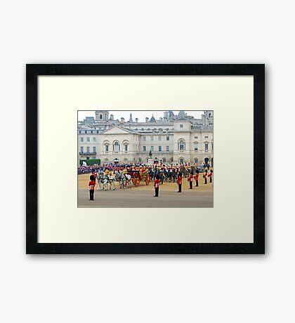 UK, England, London, Horse Guards Parade, Royal Wedding Framed Print