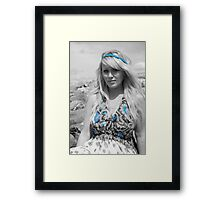 zoe beach beauty,  Framed Print