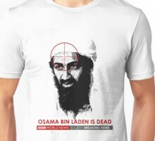 Osama is Dead on BBC. Large Unisex T-Shirt