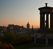 Calton Hill, Edinburgh at sunset by Michael Neal