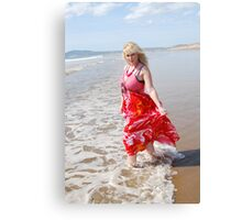 zoe beach beauty, 2 Canvas Print
