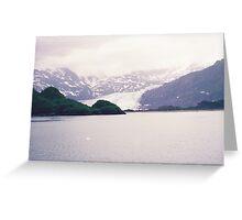 Alaska Glaciers, Alaska Green Colors Greeting Card