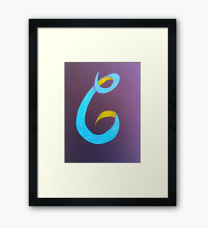 Letters of the alphabet C  Framed Print