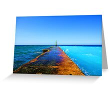 Between ocean and the sea Greeting Card