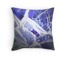 Snow and Shadow Throw Pillow