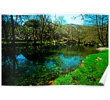 Tree Lined  River Brathay Near Chapel Stile - Lake District Poster