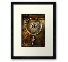 Steampunk - The pressure gauge Framed Print