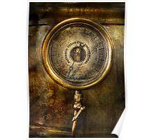 Steampunk - The pressure gauge Poster
