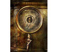 Steampunk - The pressure gauge Photographic Print