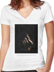 The Universe Within Women's Fitted V-Neck T-Shirt
