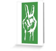 Peace Fingers Greeting Card