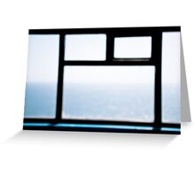 the sea and the sky  Greeting Card