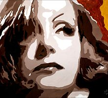 Greta Garbo in Brown 001 by Greg Allen