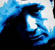 Marlon Brando in Blue 001 by Greg Allen