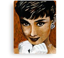 Audrey Hepburn in Brown 002 Canvas Print