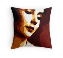 Elizabeth Taylor in Brown 003 Throw Pillow