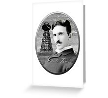 Nikola Tesla - Legends of Science Series Greeting Card