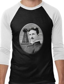 Nikola Tesla - Legends of Science Series Men's Baseball ¾ T-Shirt