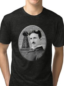 Nikola Tesla - Legends of Science Series Tri-blend T-Shirt