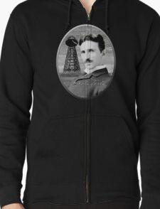 Nikola Tesla - Legends of Science Series Zipped Hoodie