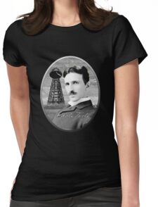 Nikola Tesla - Legends of Science Series Womens Fitted T-Shirt