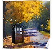 Tardis Autumn Poster