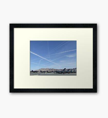 turbulent skies  Framed Print
