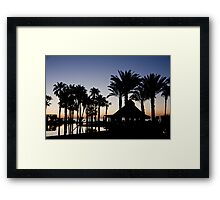 Silhouettes By The Sea Framed Print