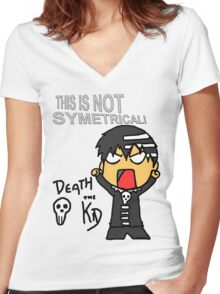 Soul Eater - Symetry Women's Fitted V-Neck T-Shirt