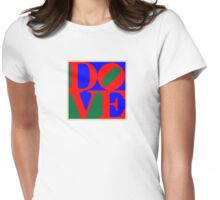 Dove [ in the name of peace ] Womens Fitted T-Shirt