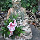 The Buddha's Flower Sermon with an Azalea by Maurine Huang
