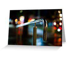 handrail at night Greeting Card