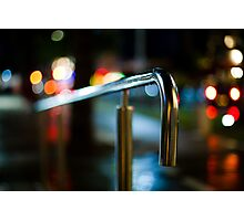 handrail at night Photographic Print