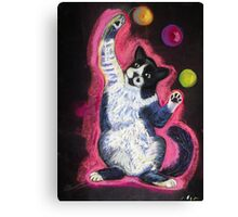 Juggling Cat Canvas Print