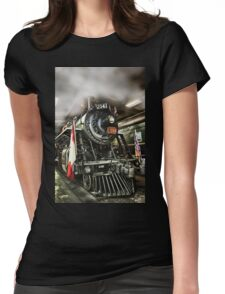 STEAM LOCOMOTIVE 2141 Womens Fitted T-Shirt