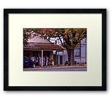 Sue Ellen's Drapery Framed Print