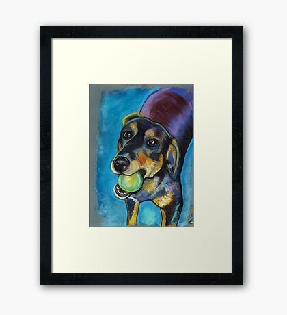 Heinz 57 Black and Tan Dog Framed Print