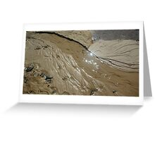 Flow and glisten Greeting Card