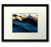 Stepping Off the Edge Framed Print
