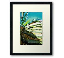 Steps to the Alps Framed Print
