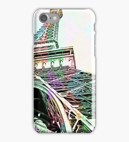 Rainbow Eiffel Tower iPhone Case/Skin