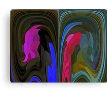 Crow Converses with Hawk Canvas Print