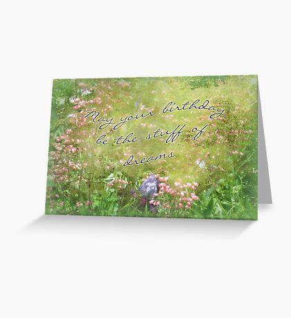 Birthday Greeting Card - Coral Bells and Irises Greeting Card