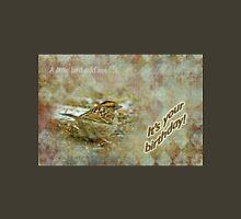 Birthday Greeting Card - White-throated Sparrow Songbird Unisex T-Shirt