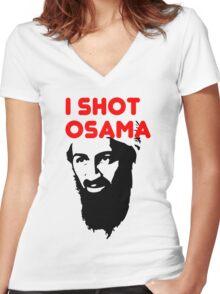 I shot Osama Women's Fitted V-Neck T-Shirt