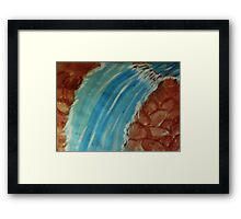 Hope this waterfall cools you down, watercolor Framed Print