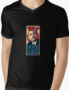 Hope it Hurt Osama Mens V-Neck T-Shirt
