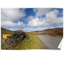 Fishing baskets, Shetland mainland Poster